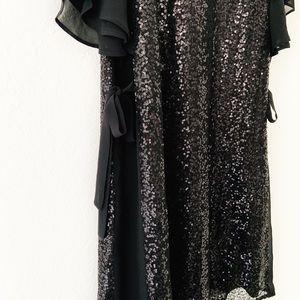 Laundry By Shelli Segal Dresses - Laundry Shelli Segal Chiffon Sleeve Sequin Dress